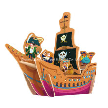 Wood Collectibles Toy for DIY Houses-Pirate Ship
