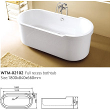 Seamless Bathtub Plastic Lighted Bathtub Wtm-02102