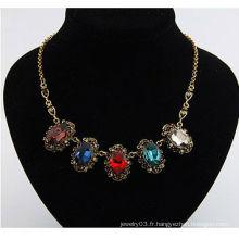 Collier en diamant en alliage de diamant 35.5g-400x120x26mm en gros Collier bijoux en collier 11010232
