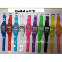 Relógio digital de presente colorido colorido com caculador