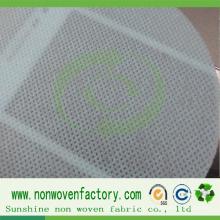 Verde não tecido da cor da folha do polipropileno