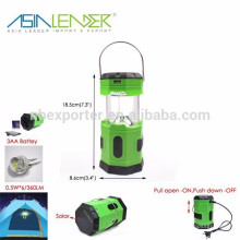 Asia Leader Produkte 5.5V 50mAH 6 LED Solar Pop-up Camping Laterne