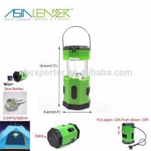 Ásia Líder Produtos 5.5V 50mAH 6 LED Solar Lanterna de Camping Pop-up
