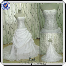 JJ2920 Beaded Embroidery Ball Gown Luxury Wedding Dress