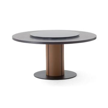 Ji bo Dining Table for Solid Wooden Turntable