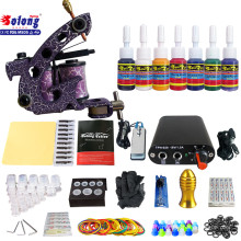 Kit de tatouage débutant TK105-78 de Solong avec des kits de tatouage d'alimentation d'énergie de pistolet de tatouage avec des aiguilles