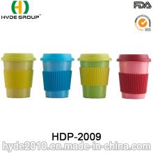 Taza de café de fibra de bambú ecológica colorida libre de BPA (HDP-2009)