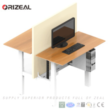 Face to face smart table height adjustable electrical standing computer desk