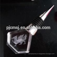 Globo de cristal por atacado simples rolha de vinho para presentes
