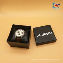 Kostenlose Probe benutzerdefinierte Logo schwarz Karton Papier Uhr Verpackung Geschenkbox