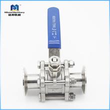 El fabricante chino de 2 pulgadas de acero inoxidable sanitario SS 304 / 316L controla la válvula de bola