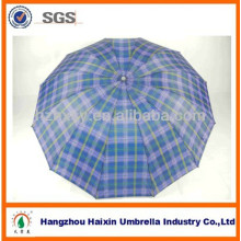3 folding Fancy überprüfen Satin Hotel Regenschirm-print-anzeigen