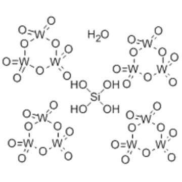 Tungstate(4-), [μ12-[orthosilicato(4-)-κO:κO:κO:κO':κO':κO':κO'':κO'':κO'':κO''':κO''':κO''']]tetracosa-μ-oxododecaoxododeca-, hydrogen (1:4) CAS 12027-38-2