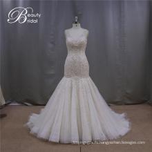 Тяжелые бисером Mermaoid свадебное платье