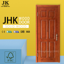 JHK-Raw Teak Prehung Front Door Design Solid Wooden Door