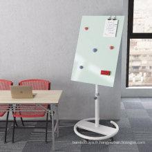 Tableau blanc magnétique en verre pour bureau