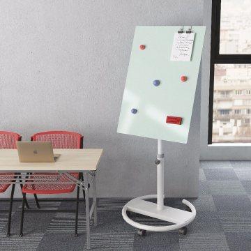 Mobiles magnetisches Whiteboard aus Glas