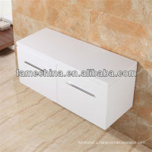Wall Hung with White Gloss Worktop Modern Bathroom Vanity Double Sinks