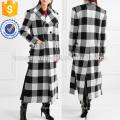 Überprüft wWool-Gabardine Mantel Herstellung Großhandel Mode Frauen Bekleidung (TA3001C)