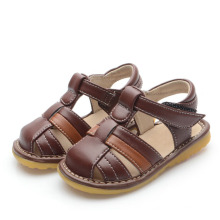 Brown Baby Boy Squeaky Sandals