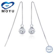 Moda jóias brinco atacado Estoque de jóias de prata brinco gota de corrente