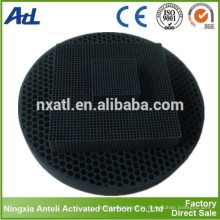 Honeycomb Aktivkohle Anthrazit Filtermaterial