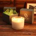 Exquisite Fashion Glass Jar Soy Candle as Gift in Box