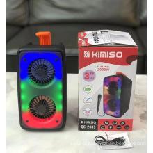 KIMISO QS 2303 3 Inch*2 Factory Wireless Speakers Party Big Professional Dj Speaker Box Wireless Speaker With New Fashion