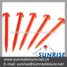 56715A# 19cm Plastic Tent And Awning Pegs With Hook
