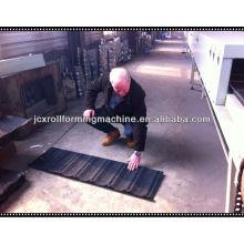 Cubierta de piedra revestida de piedra que hace la máquina, máquina revestida piedra de la azotea del metal para la venta