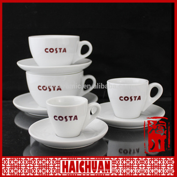 120ml porcelain coffee cup and saucer capuchino cup set expresso mug