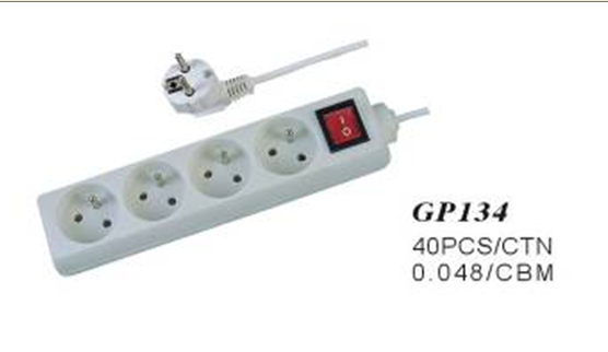 4 way socket power outlet