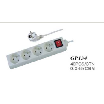 4 Way European Socket Power Outlet