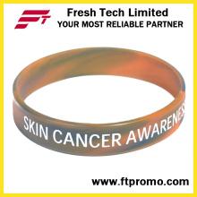 Promocionais pulseira de silicone ecológica