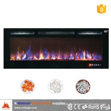 2016 nouveau design Réchauffeur de cheminée électrique à encastrer de 50 pouces / encastré avec écran tactile