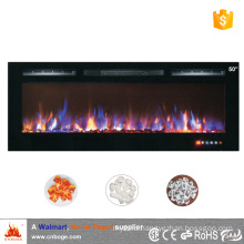 "2016 new design 50"" master flame wall mount/recessed electric fireplace heater with touch panel"