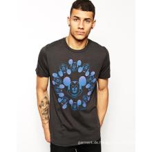 2016 China Manufacturing Fashion billigste Rundhals Printing 100% Baumwolle Jersey Männer T-Shirt