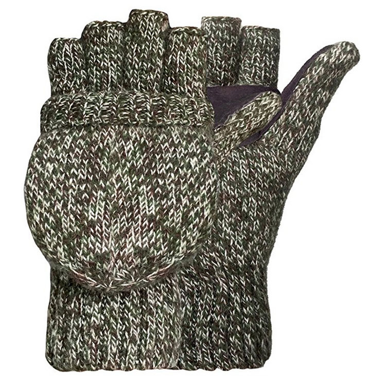 Snow Pattern Knitted Gloves