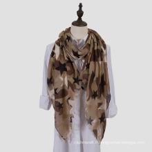 Foulard léger à capuche imprimé châle imprimé femme (SW100)