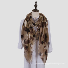 Womens Lightweight Camouflage Starred Fashion Print Shawl Wrap Scarf (SW100)