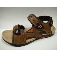 Verano al aire libre casual cuero sandalias para hombres