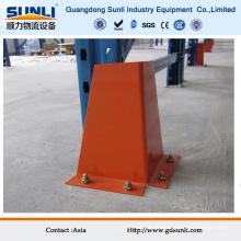 Protetor de rack de armazenamento pesado de aço na posição vertical