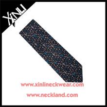 Azo Free Men Fashion Chinese Wholesale Silk Print Neck Music Tie
