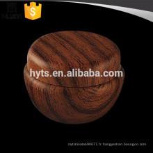 10ml grain de bois en plastique crème cosmétique pot vide