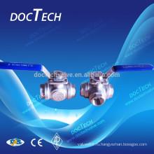 3-ходовой шаровой кран с высоким монтажа, сделанные в Китае