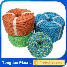 Corde torsadée en plastique de 3 brins, corde de nylon de pe 10mm, cordes de poly de Danline
