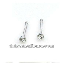 Clear crystal stainless steel nose pin jewelry