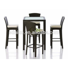 2014 the latest hot sale modern style rattan bar set