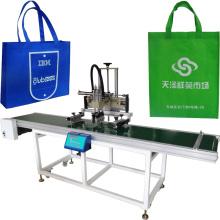 woven bag screen printing machine with conveyor
