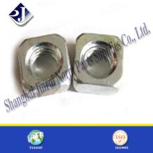 M10 DIN557 Standard Stahl Vierkantmutter für Bolzen